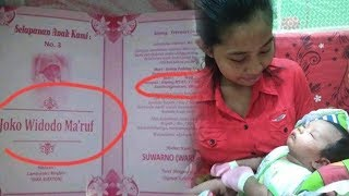 Viral Bayi Laki-laki di Sragen Bernama Joko Widodo Ma'ruf, Ini Penjelasan Sang Ayah!