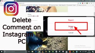 How to Delete a comment on Instagram Post? In PC Delete Comment on Instagram