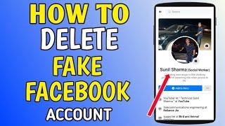 Facebook pe fake duplicate account kis tarah delete karein 100% working [ WITH PROOF]