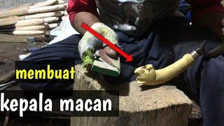 HANDLE /GAGANG KUJANG /KEPALA MACAN// Membuat Gagang Kujang