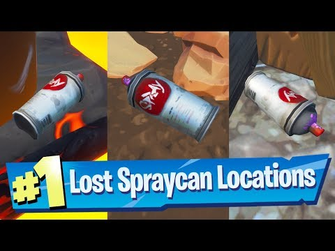Find Lost Spraycans ALL 5 Locations - Fortnite (Spray & Pray) Challenge