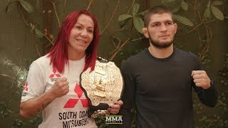 UFC 219: Cris Cyborg and Khabib Nurmagomedov Lunch Scrums - MMA Fighting