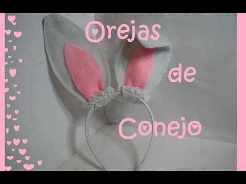 Orejas de Conejo -  Diadema decorada #1- Tutorial - DIY