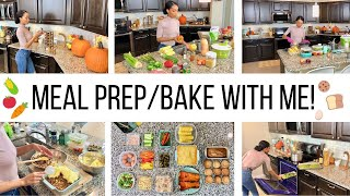 MEAL PREP/ BAKE WITH ME // STAY AT HOME MOM MEAL PREP ROUTINE // FALL RECIPES 2019 //Jessica Tull