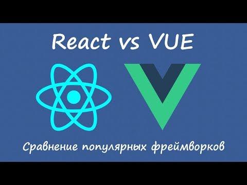 Vue vs React - сравнение фреймворков