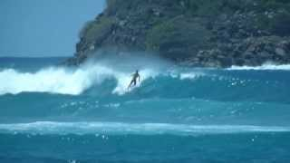 preview picture of video 'Surfing at Hull Bay, US Virgin Islands'
