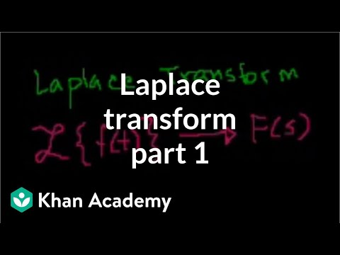 Laplace transform intro | Differential equations (video) | Khan Academy