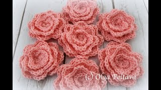 How To Crochet Rolled Up Rose, Free Crochet Pattern And Video Tutorial