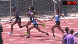 2016 TF - CIF-ss Prelims (Div 1) - Girls' 4x100 Relays (5 Heats)