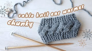 Chunky Cable Knit Headband - Beginner Friendly Cable Knitting!❄