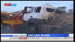 Driver dies after losing control of trailer at the notorious Salgaa stretch