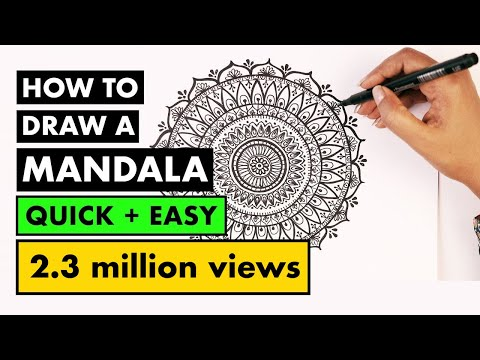 how to draw MANDALA ART for beginners | Vijayta Sharma