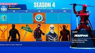 SEASON 4 MAX RANK SKIN LEAKED by Fortnite! - Fortnite Battle Royale Season 4 Tier 100 Superhero Skin