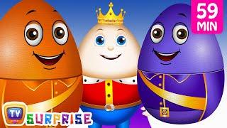 Learn Colours with Surprise Nesting Eggs Nursery Rhymes Toys | Humpty Dumpty | ChuChu TV Field Trip!