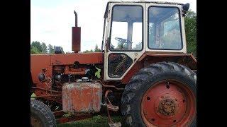начал ремонт нового трактора