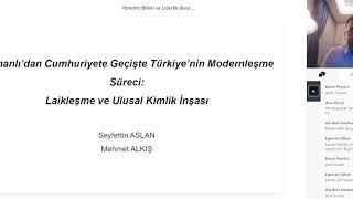 """7 Nisan tarihli Yönetim Bilimi ve Liderlik dersi: Koronavirüs Günlerinde Uzaktan Eğitim: """"Osmanlı&#3"""