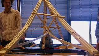 balsa   Uitknikken driehoekspant