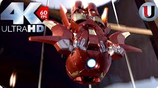 Iron Man vs Loki -The Avengers 2012 Movie Clip (4K HD)