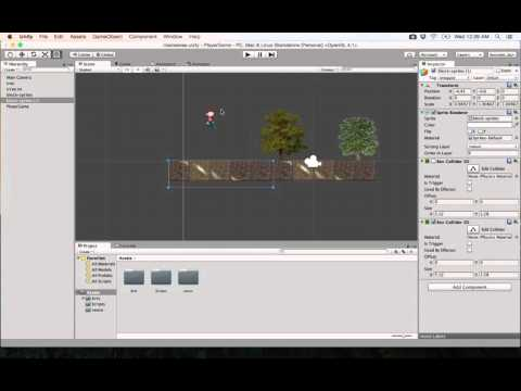 8- Unity 2D||  Adding collision to the player جاذبية
