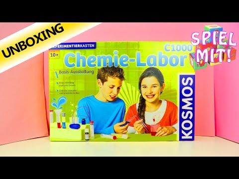 KOSMOS CHEMIE LABOR C1000 Experimentierkasten für Kinder - Unboxing Deutsch - 128 Experimente!