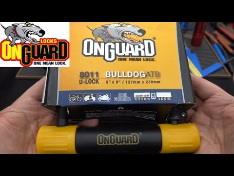 (1348) OnGuard Bulldog ATB 8011 Bicycle U-Lock Picked