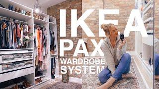 IKEA Pax Closet Tour + Organization Vlog ✨| Amanda Weldon