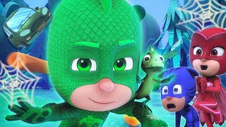 PJ Masks Episode | CLIPS 🕸 Gekko and Lionel's Tricks! 🎃🦇 Happy Halloween 🦇🎃Cartoons for Kids