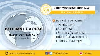 CHƯƠNG TRÌNH PHÁT THANH, THỨ NĂM 19092019