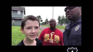 Officer Helps Boy Who's Bike Was Stolen. Thank you officer Officer LaMar Sharpe for caring.