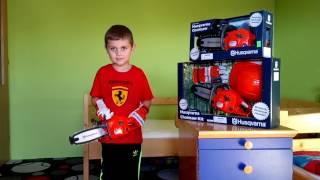 Dětská Motorová Pila - Vydává Zvuky a Točí se Řetěz - Super Hračka