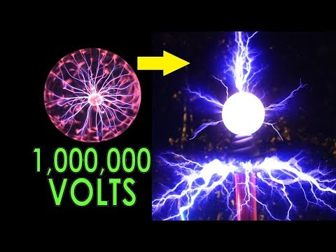 Pumping a million volts through a commercial plasma globe