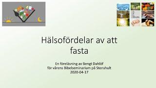 01 Hälsofördelar med Fasta – Bengt Dahlöf