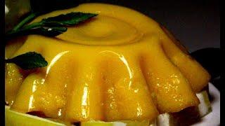 Chinese Dessert Mango Pudding