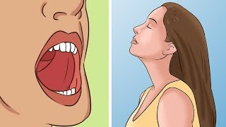 If You Touch Your Tongue To The Roof Of Your Mouth And Breath This Is What Happens