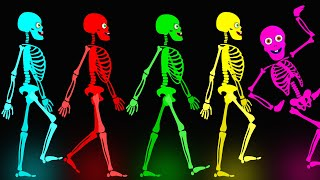 Midnight Magic - Five Skeletons Went Out One Night | Fun Skeletons Adventures Binge Compilation