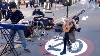 A Guitar Genius Girl Playing Guitar So Fast - People Got Shocked!