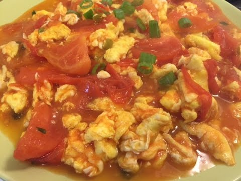 How To Make Chinese Tomatoes and Eggs Stir Fry (番茄炒蛋)