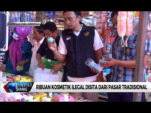 Ribuan Kosmetik Ilegal Disita dari Pasar Tradisional