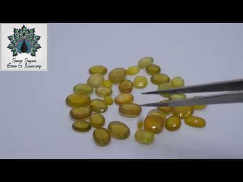 Colorgems Cultured Pukhraj Yellow Sapphire Loose Precious Gemstone Certified 5.25 Ratti