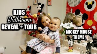 KIDS BATHROOM REVEAL | Mickey Mouse Themed Bathroom Tour