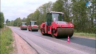 Новгородские журналисты оценили ход дорожных работ в нескольких районах