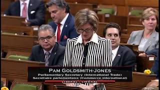 We appreciate the support of MP Pamela GoldsmithJones for representing BC and