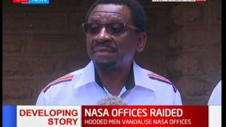 James Orengo reacts following raid on NASA offices in Nairobi