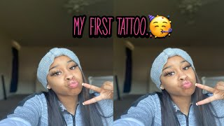 Come Get A Tattoo With Me// First Vlog .❤️