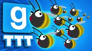 WE SPAWN LIGHTNING FAST BEES 3 TIMES IN A ROW | Gmod TTT