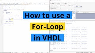 How to use a For-Loop in VHDL