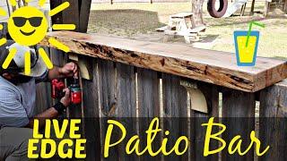 Live Edge Patio Bar - Woodworking