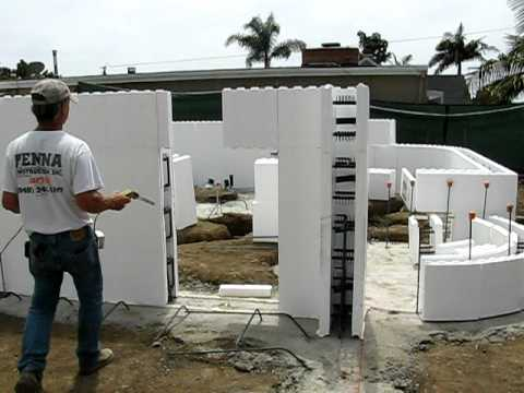 Fox Blocks Cutting foam to create openings in walls Laguna job