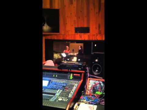 Recording at Goldmine Studio