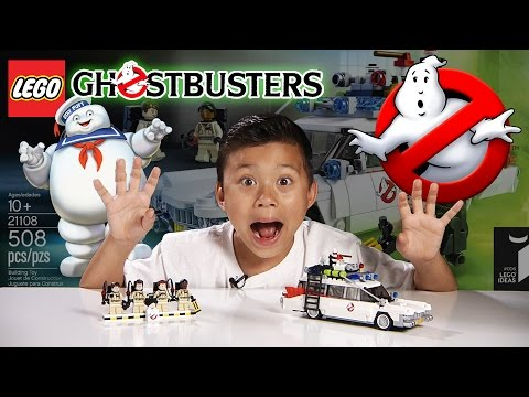 LEGO GHOSTBUSTERS ECTO-1 Set 21108 - Time-lapse Build, Stop Motion, Unboxing & Review!
